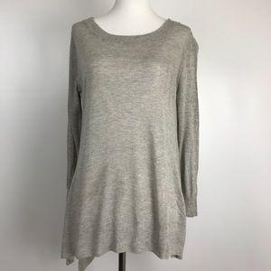 Vince | Gray Asymmetrical Sweater